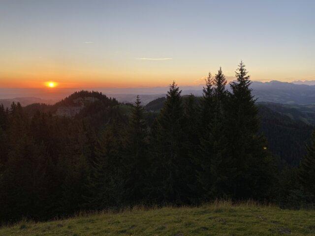 Sonnenuntergang Napf